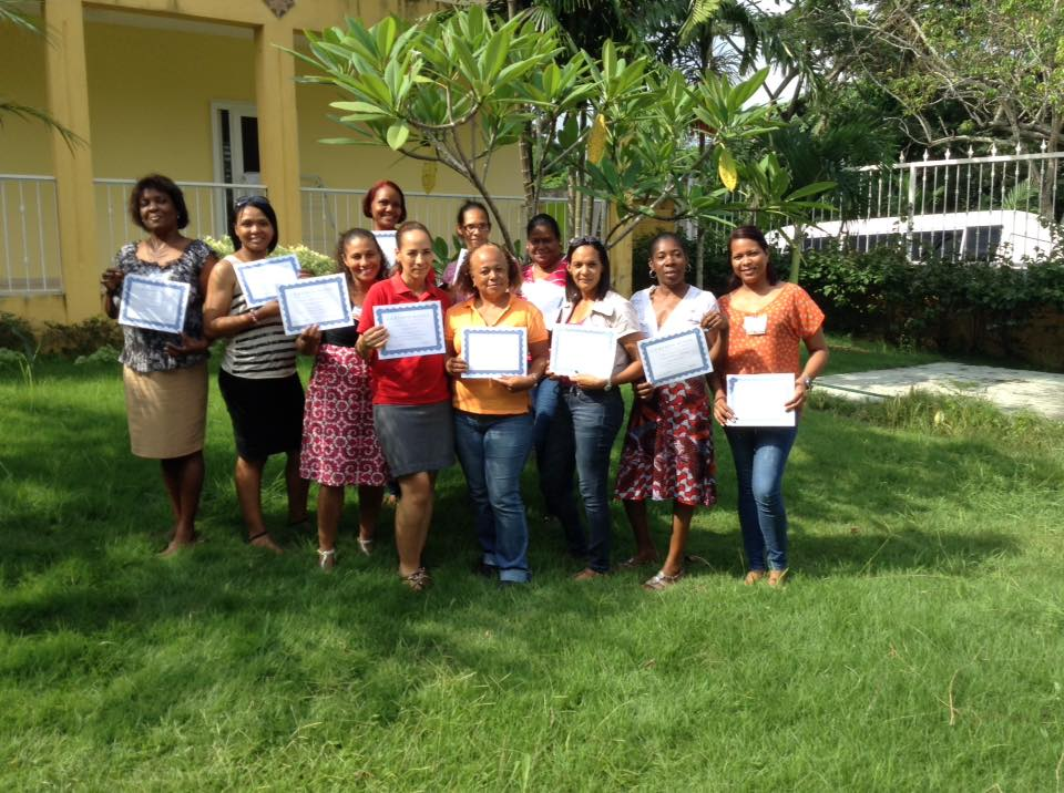 Workshop Participants with their certificates of attendance.