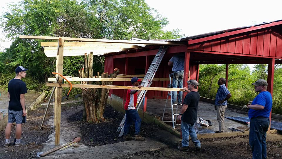 working on red bldg extension